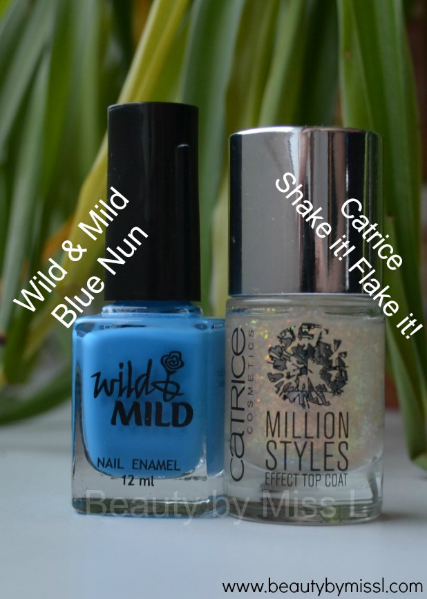 Wild&Mild Blue Nun, Catrice Shake it! Flake it!