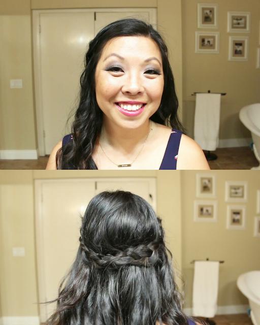 Half Crown braided Hair