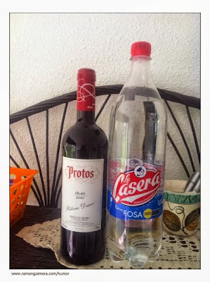 Protos , ribera Duero, mit Lemonade, gaseosa, Casera