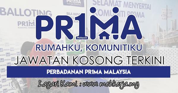 Jawatan Kosong Terkini 2018 di Perbadanan Pr1ma Malaysia