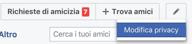 Come non far vedere amici su facebook privaci contatti