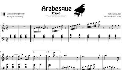 Arabesque Partitura de Piano - Estudio Fácil