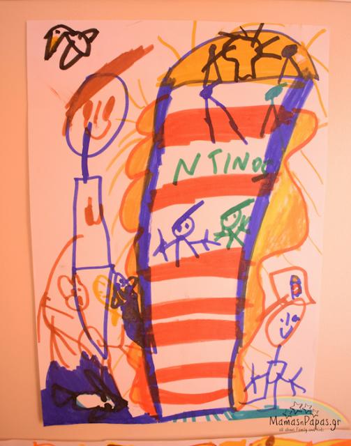 Ο Ντίνος ζωγραφίζει