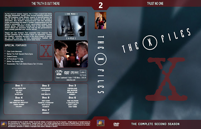 The X Files Season 2 DVD Cover