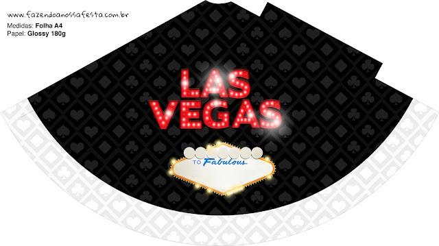 Conos=Cucuruchos de Fiesta de Las Vegas para Imprimir Gratis.