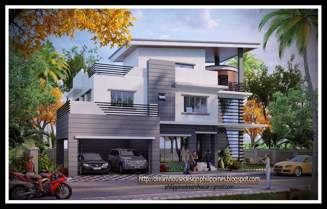 Philippine dream house design three storey house for Modern 3 storey house