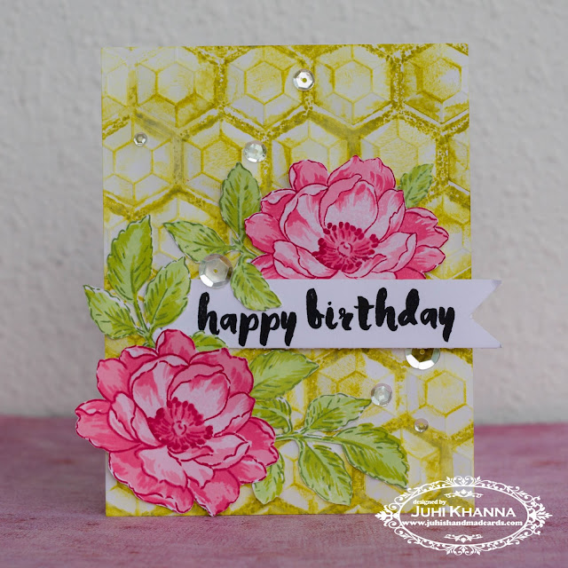 Hand stamped card with altenew stamps