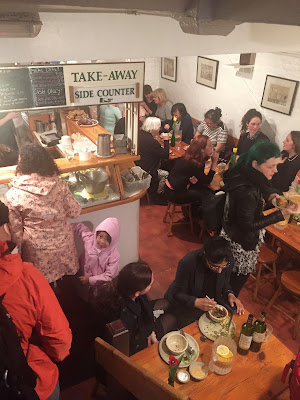 Vegan London Dinner Crowd at Food for Thought