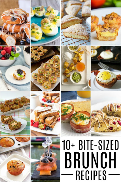 Plan the perfect weekend brunch with these 10+ Bite-Sized Brunch Recipes!