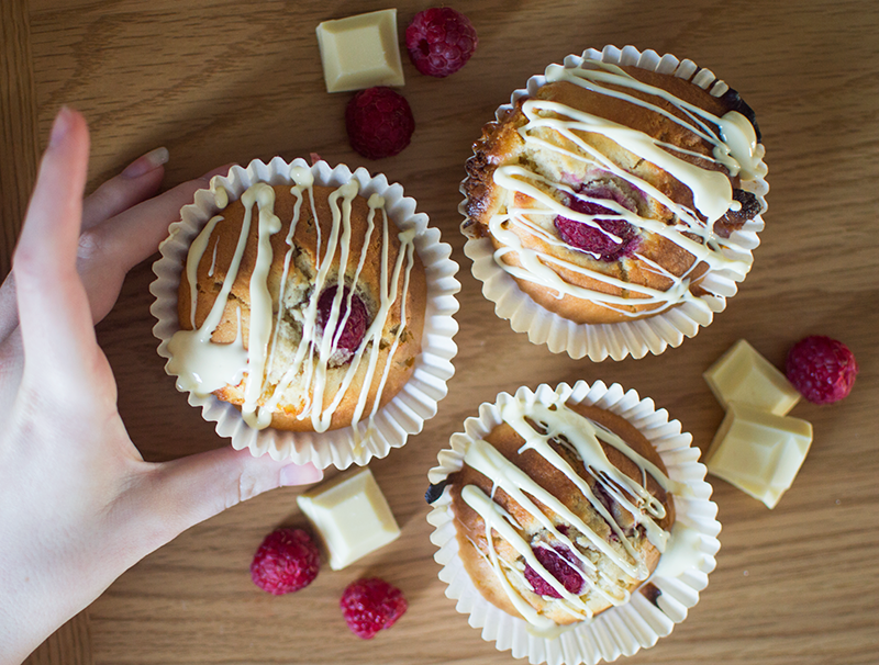 BAKING: RASPBERRY AND WHITE CHOCOLATE MUFFINS
