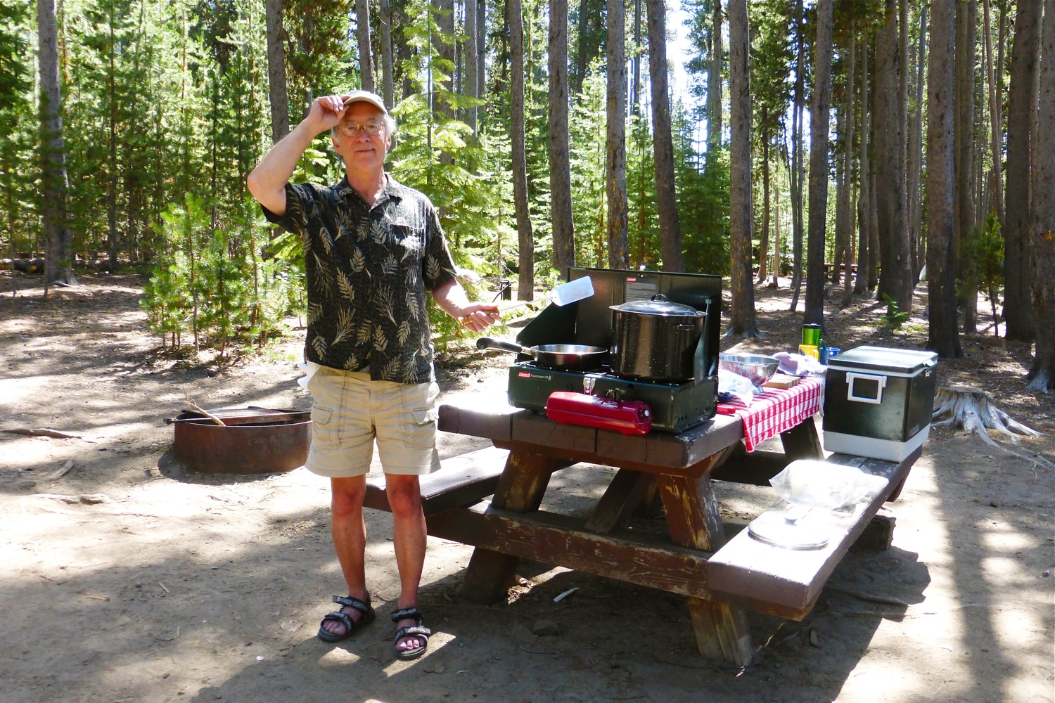Newberry National Volcanic Monument Cinder Hill Campground, James Aoyama, James Aoyama at Cinder Hill Campground, James Aoyama at Newberry National Volcanic Monument