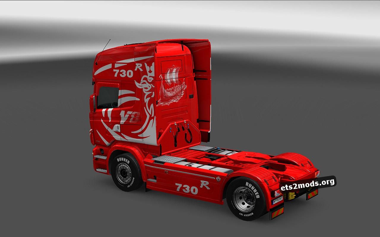 Scania RJL Red Illusion Skin