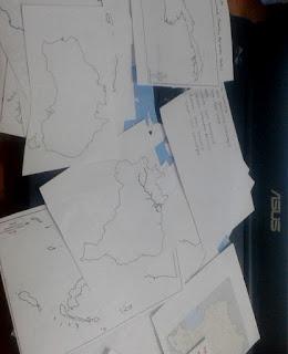Belajar Blank Map atau Peta Buta di Kelas