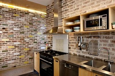 Contoh Desain Gambar Wallpaper Dinding Untuk Dapur Rumah Minimalis