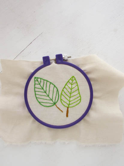 A Lively Hope Free Leaf Embroidery Pattern
