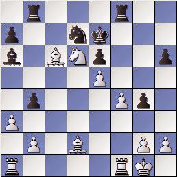 Partida de ajedrez Mora vs. Sanz 1957, posición después de 25…Aa6