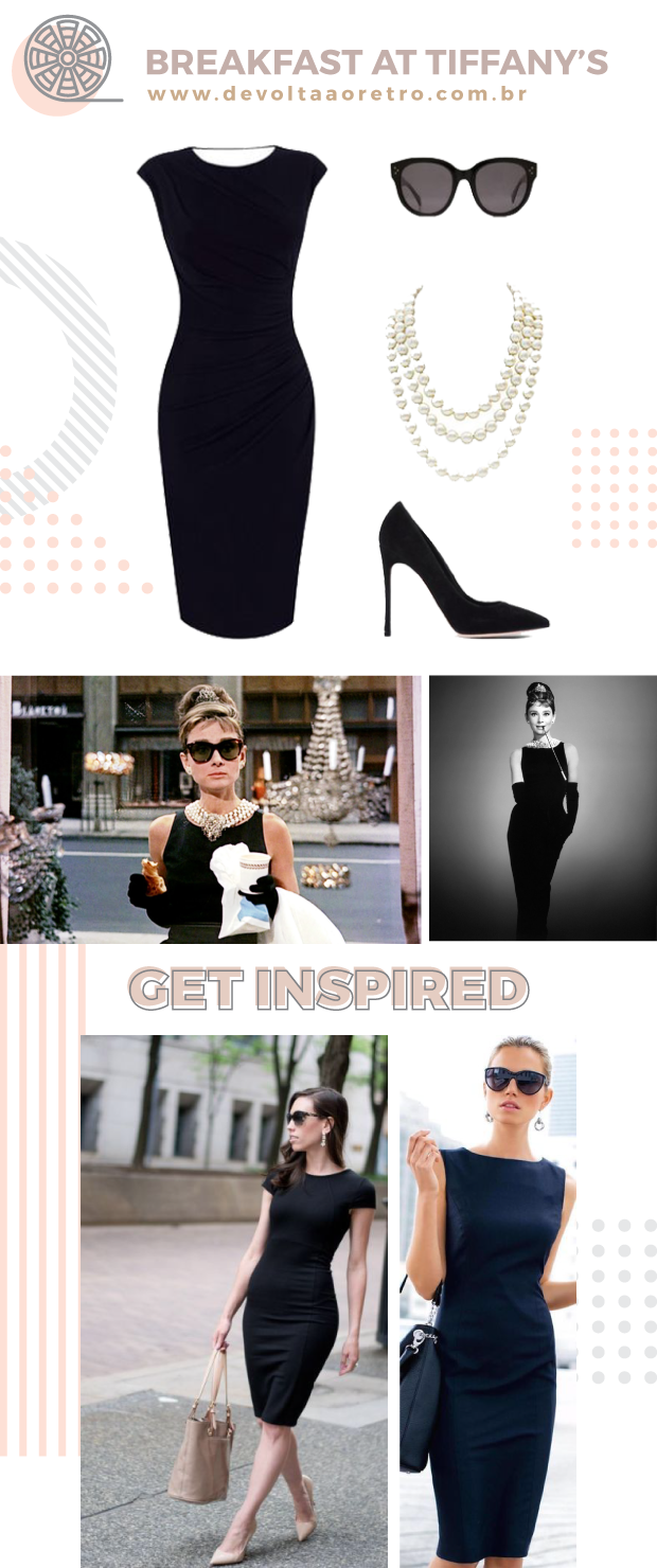 Breakfast at Tiffany's look, Breakfast at Tiffany's, Bonequinha de Luxo, look Bonequinha de Luxo, como se vestir como Audrey Hepburn, looks retrô, retro look