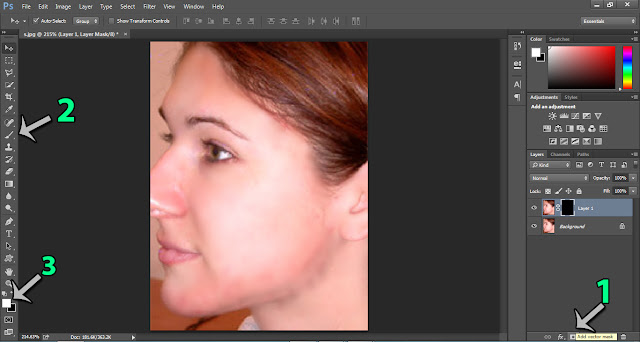 أفضل طريقة لتنعيم البشرة ب photoshop cc