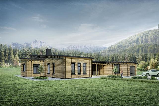 Desain Rumah Sederhana Halaman Luas Bergarasi