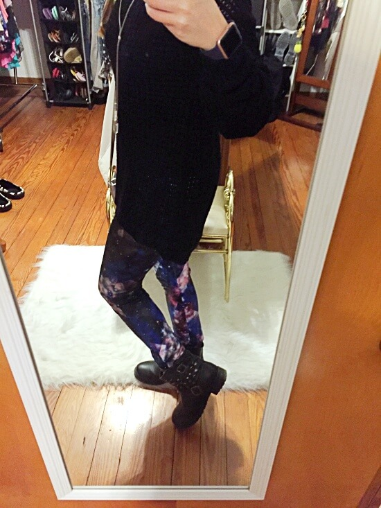 galaxy leggings outfit of the day