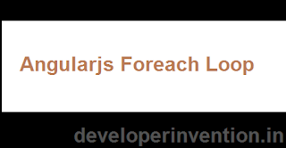 foreach loop in angularjs