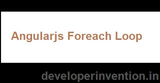 foreach loop in angularjs