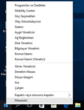 windows 10 denetim masası
