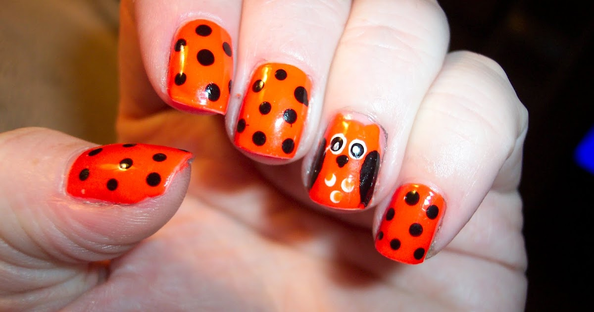 The Polished Momma: Halloween owl nails!