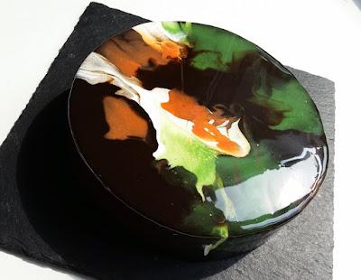 Kaffeetorte mit Zartbitter Mirror Glaze
