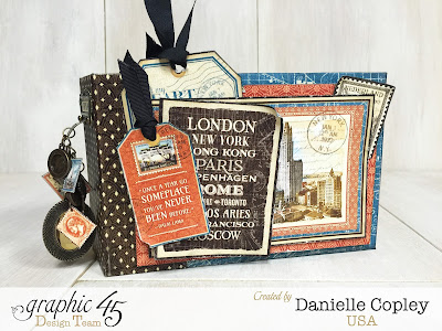 Cityscapes Mini Album, Graphic 45, Danielle Copley, Scrapbookmaven.com, photo 8