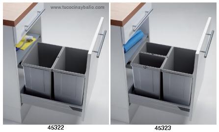Cubos basura caj n de 30 45 y 50 tu cocina y ba o - Cubo basura cocina ...