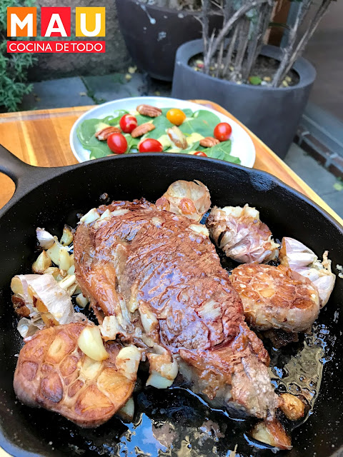 mau cocina de todo, receta, ribeye, ajo rostizado, ribeye al horno,