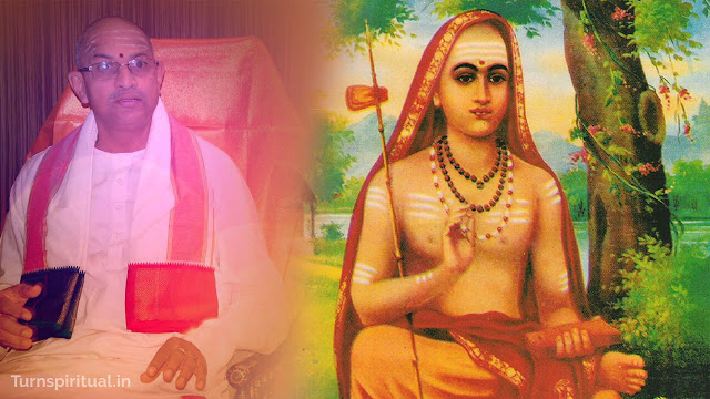 Chaganti Koteswara Rao speech about Sri Adi Shankaracharya Image - Turnspiritual