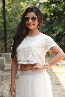 Actress Aqsa Bhatt Stills At Oru Melliya Kodu Movie Audio Launch  0002.jpg