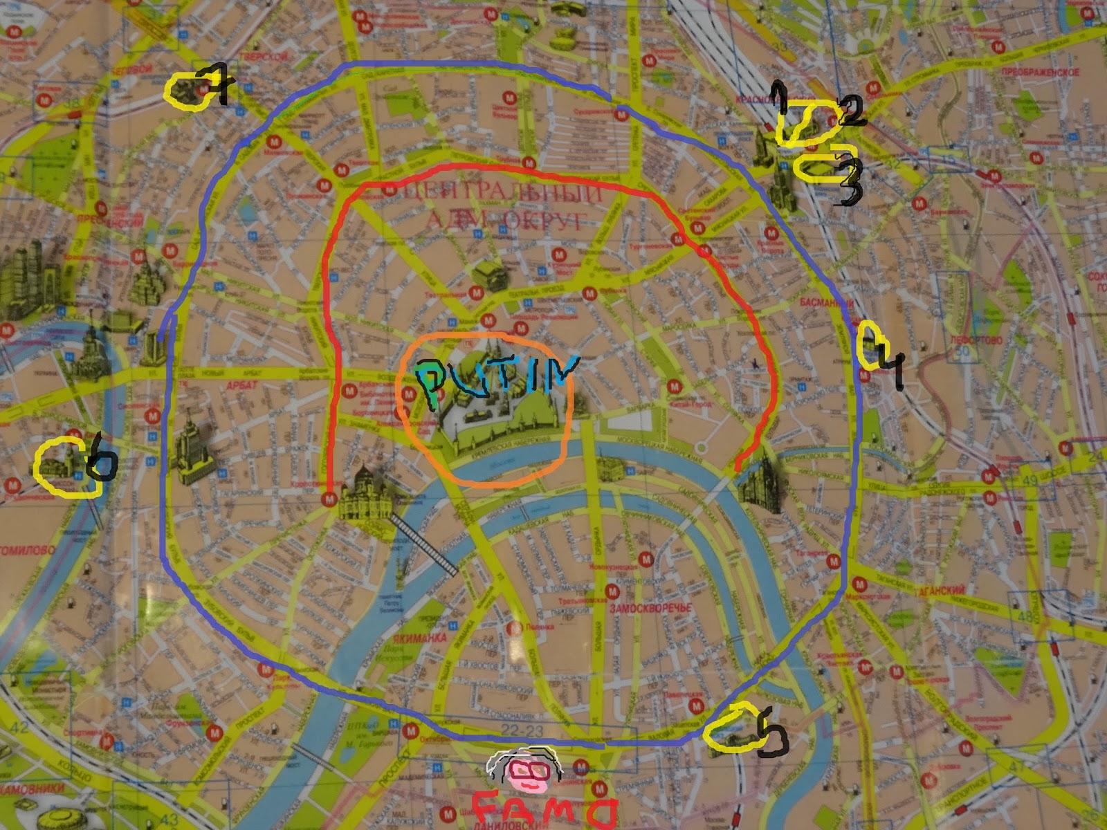 Karta över Moskva city - Boka weekendresor till Moskva - Latitude ...