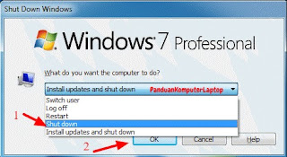 cara mematikan laptop windows 7
