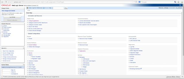 Manage weblogic domain from admin server console
