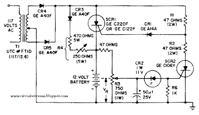 Simple Battery Charging Regulator Circuit Diagram