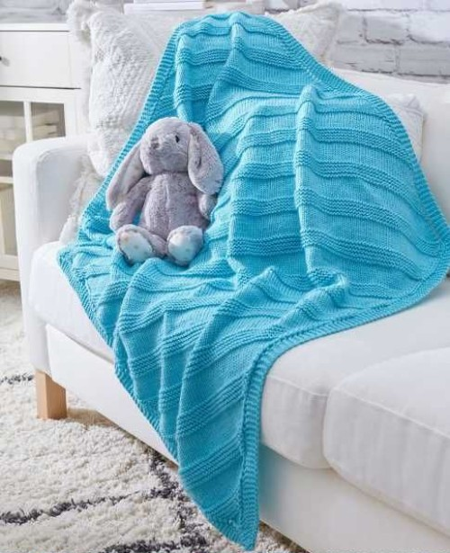 Cuddly Knit Baby Blanket - Free Pattern