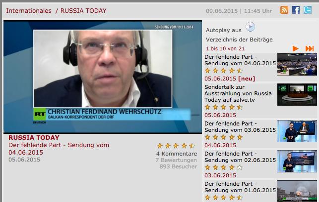 Klaus-Dieter Boehm, Editor German Salve TV, Under Scanner