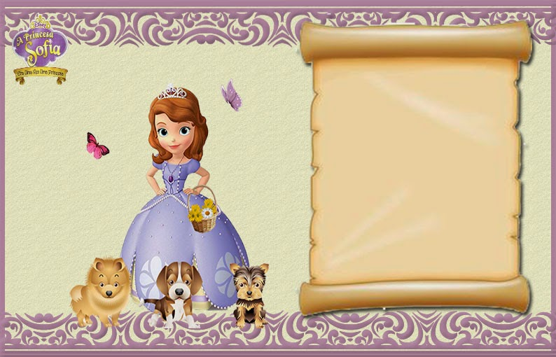 Sofia The First Free Printable Invitations Or Photo Frames Oh My - Sofia the first invitation template