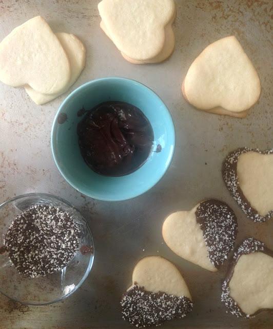 Galletas de azúcar con chocolate | http://bizcochosysancochos.blogspot.com/