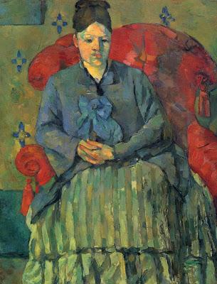 Paul Cezanne -MadameCezanne dans un fauteuil roue,1877.