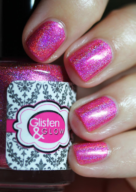 Glisten & Glow Pink Rock Candy The Holo Hookup March 2016