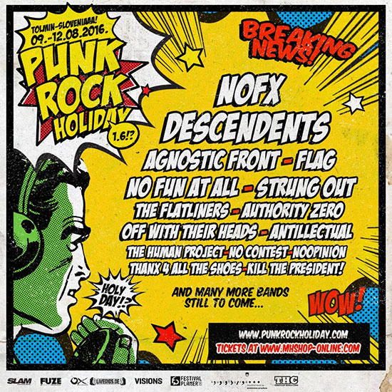 <center>Punk Rock Holiday 1.6 announce first confirmed bands</center>