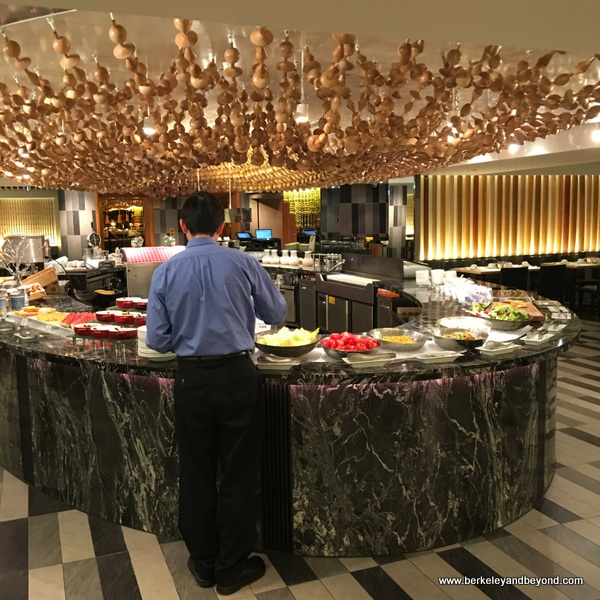 breakfast room buffet at The Sherwood Taipei in Taiwan