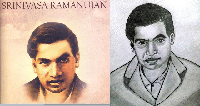 PENCIL DRAWING - Srinivasa Ramanujan