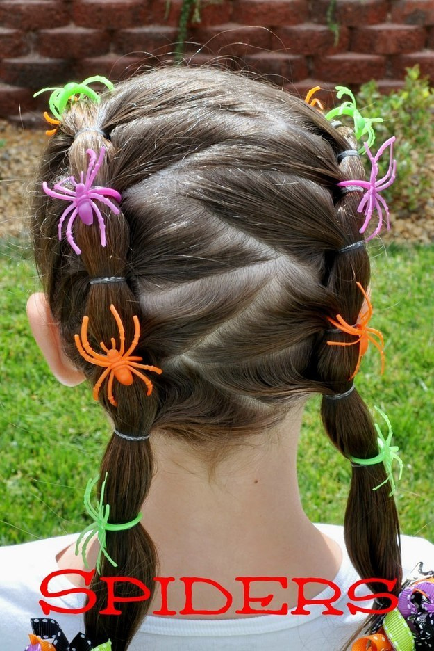 little girls pigtails