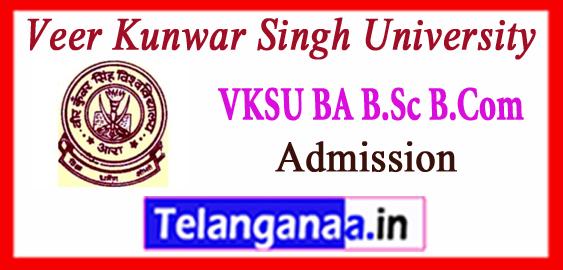 VKSU Veer Kunwar Singh University  BA B.Sc B.Com Admission Seat Allotment 2017