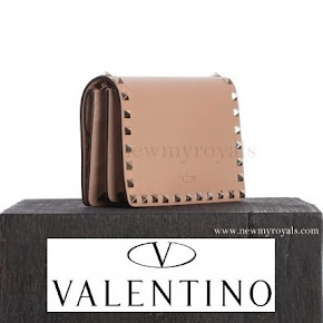 Princess Madeleine carried Valentino Pink Rockstud Clutch Bag